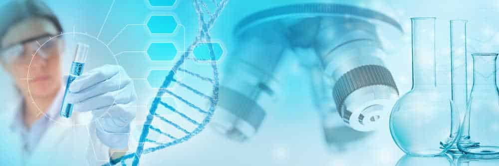genetic research abstract concept, 3d illustration
